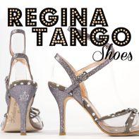regina tango shoes torino tangosolar glitter argento pois