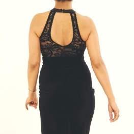 regina tango shoes vestito nero pizzo tangosolar torino