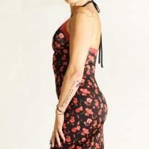 tangosolar abito nero floreale rosso charleston regina tangoshoes torino