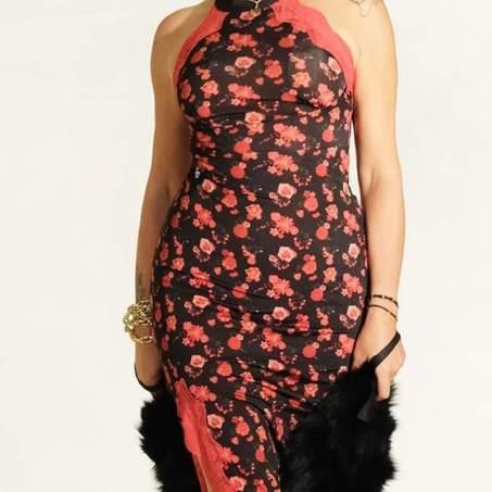 tangosolar abito nero floreale rosso charleston regina tangoshoes
