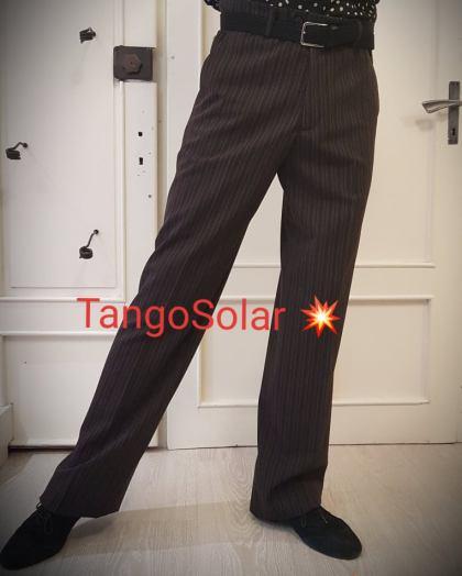 tangosolar pantalone uomo marrone senza pinces 1