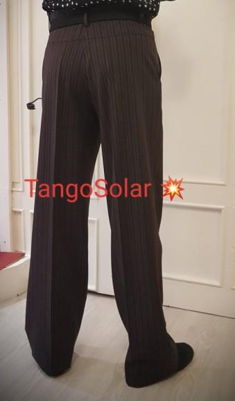 tangosolar pantalone uomo marrone senza pinces 2